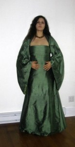 Dupioni Silk Dress