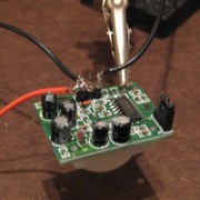 soldering the motion sensor